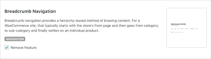 Remove WooCommerce Features - Breadcrumb Navigation