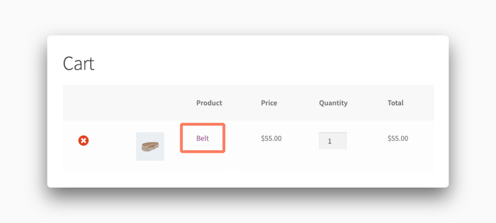 Cart Product Link in WooCommerce