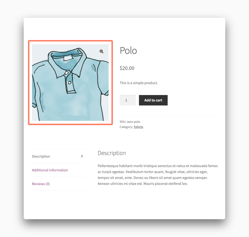 Product Image Zoom in WooCommerce