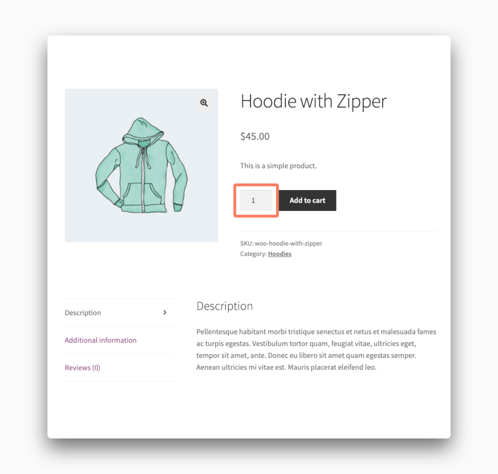 Quantity Field on a WooCommerce Product