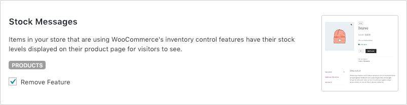Remove WooCommerce Features - Stock Messages