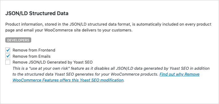 Remove Yoast SEO JSON/LD Data from Your WooCommerce Site