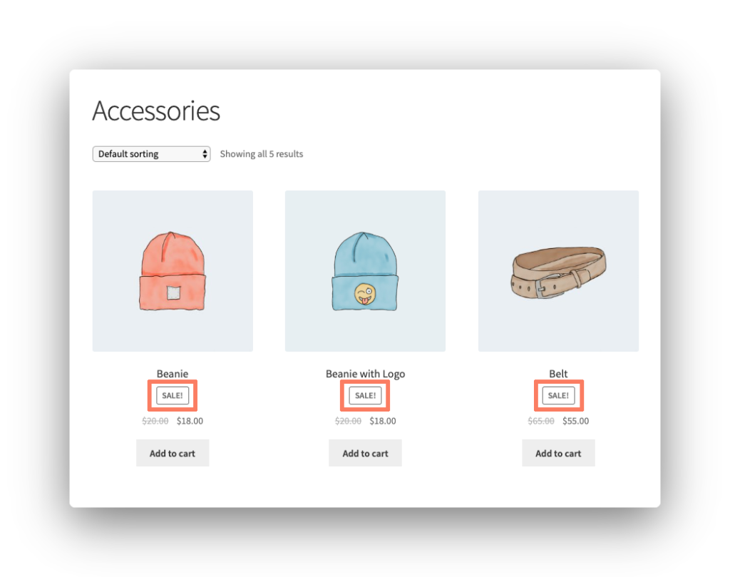 Sale Labels Screenshot