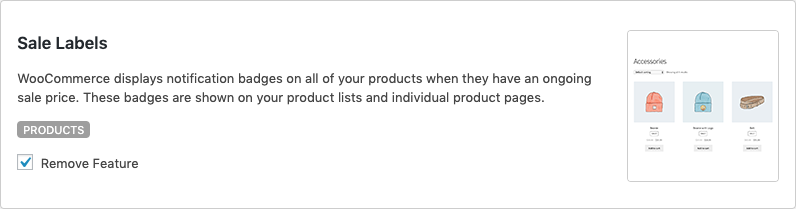 Remove WooCommerce Features - Sale Labels